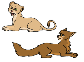 CLOSED-Lioness and wolf adoptable by Zari-Adoptables