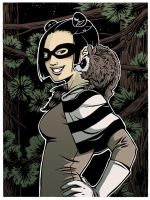 Raccoon Superheroine by Tallychyck