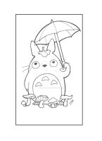 Totoro -14 by andrielisilien