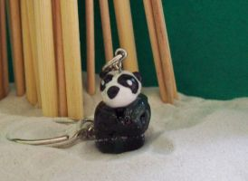 Chibi Panda Keychain by cybershadowmoon