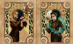 Good Omens: Steampunk edition by Linnpuzzle