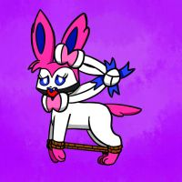 Trussed Up Sylveon by PaintThinners