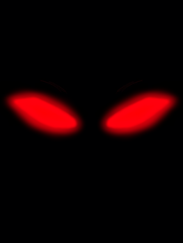Redfire. glowing red eyes in the dark. by Redfiredark