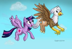 The Princess and the Hippogriff. by raggyrabbit94