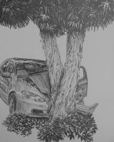 Dad Hit A Tree by graphartist64