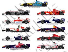 F1 2006 Print by andyblackmoredesign