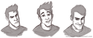 Mark Makes Funny Faces by HaleysComett