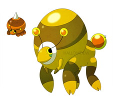 Honey Bumble Pokemon by HallowDew