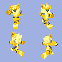 Minecraft Skin: Shiny Arcanine by DarkShinyCharizard