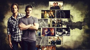 Supernatural Wallpaper - Sam and Dean by Sidhrat