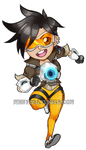Overwatch: Tracer Sticker by Mikkynga