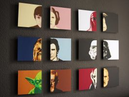 Star Wars Character Faces by MerlinTheRed