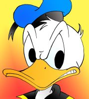 Donald Duck is angry by MagicalMerlinGirl