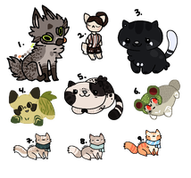 :CHEAP OPEN LEFTOVER ADOPTS: by moko-adopts