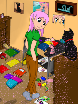 Suz and Pesky with Glitter by KatieAndMuse