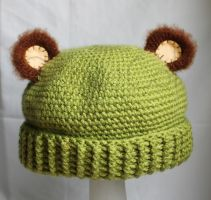 Hat with Bear Ears by PequeCol