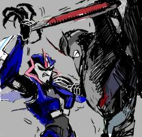 arcee vs starscream by washoi