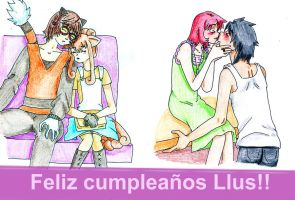 Feliz cumple llus I by Liliko-dream