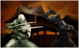Snake Eyes vs Storm Shadow by DarrenGeers