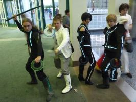 Tron Legacy Cosplay Group by OPlover