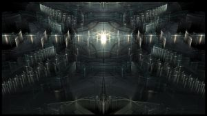 Galactic Station Wallpaper by fractalyzerall