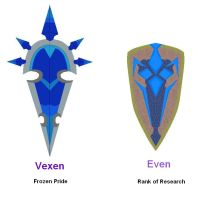 Even and Vexen weapons by vildtiger