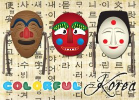Colorful Korea poster by Pooky-di-Bear
