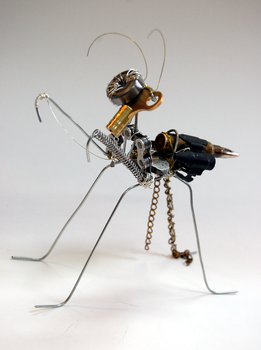 Steampunk Mantis 02 by a-small-piece-of-ham