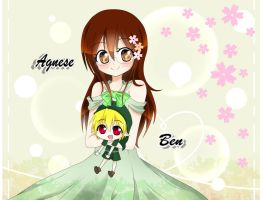 Agnese With Ben Chibi (Request) by ShinDeizu760