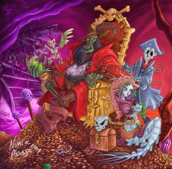 Evil undead and pirate LeChuck by nuriaabajo