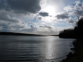 Lake Nocakmixon. Sun_clouds by OL27