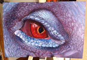 Lizard eye painting by Catherine-Holmes