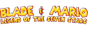 Blade and Mario Legend of The Seven Stars Logo by KingAsylus91