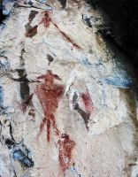 Pictographs in Wasatch Mts by houstonryan