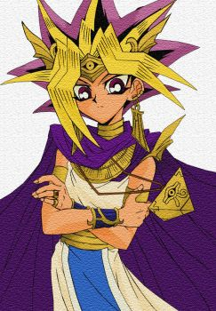 Pharaoh Atemu Colourized by Spikey-Chan