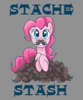 Stache Stash Tee by steffy-beff