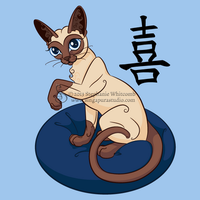 Siamese Chinese Cat by SingapuraStudio