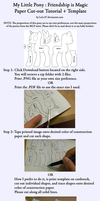 MLP Paper Cutouts Tutorial + Template by LeLe37