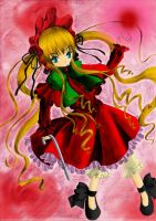 Rozen Maiden - Shinku (colored) by Kudo008