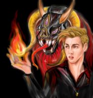 Kris-father of dragons, lord of fire by Kate--Rina
