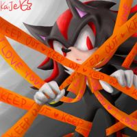 KEEP OUT Shadow The Hedgehog by KaiJel
