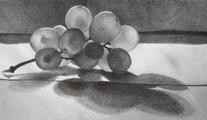 Grapes still life by GnomesAndCookies