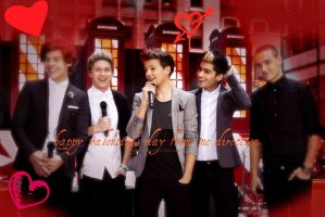 Happy valentine's day from one direction by Falloutdaylenne
