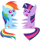 Mini Dashie and Twily by DerAtrox