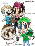 Chibi Youtube Gamers Unite! (Coloured V1.) :3 by ShannonxNaruto