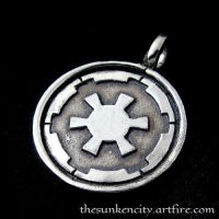 Silver Galactic Empire pendant by Sulislaw