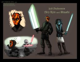 Padawans Aro Kon and Shashi by ZetsubouZed