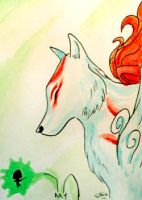 ACEO 63 - Ammy and Issun by Clopina