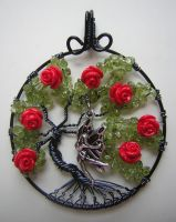 Fairy of the Roses Tree of Life *SOLD* by RachaelsWireGarden