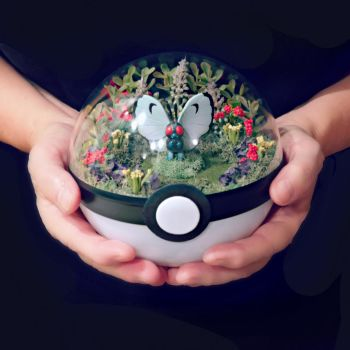 Butterfree Garden - Poke Ball Terrarium by TheVintageRealm